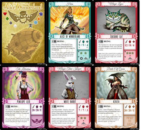 layout card game alice of wonderland trading card game part 1 indiegogo