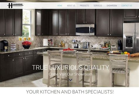 hammond kitchens and bath launches new website by harvest