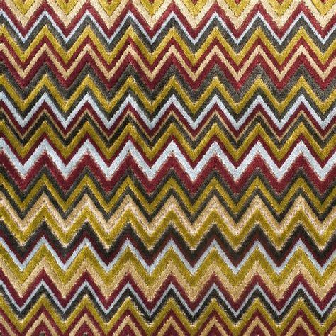 missoni upholstery fabric designer toni missoni style flamestitch zig zag velvet