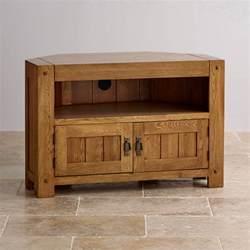 eck tv schrank quercus corner tv cabinet in rustic oak oak furniture land