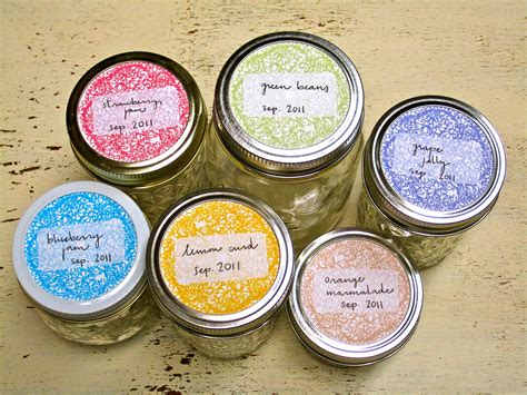 canning jar labels template jar labels printable free