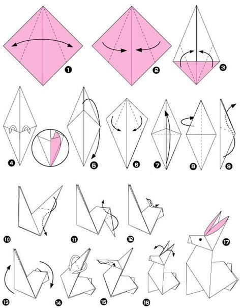 Easy Rabbit Origami - 25 best ideas about origami facile on pliage