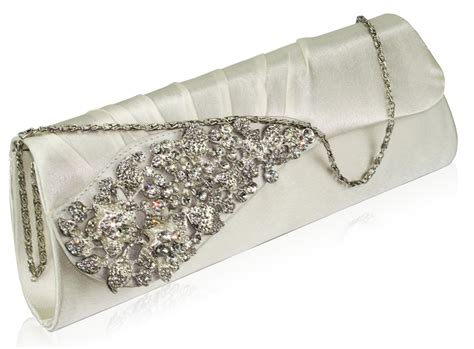 Clutch Bag silver satin clutch bag silver evening bag