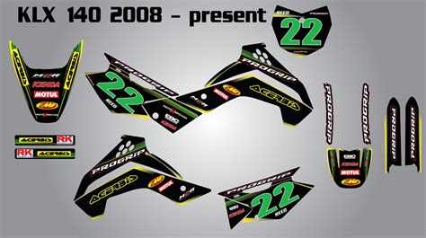 Decal Striping Sticker Klx 028 Glossy kawasaki klx 140 2008 2014 stickers decals custom graphics kit for ebay