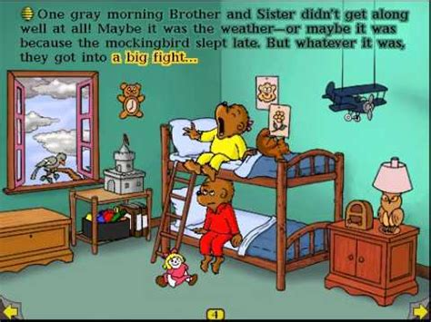 living in books the berenstain bears get in a fight living books