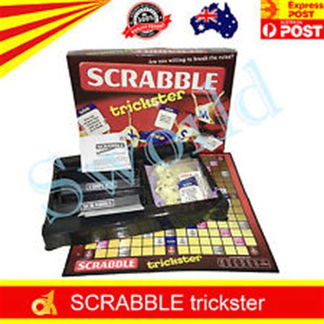 trickster scrabble scrabble deluxe edition board new team toyboxes