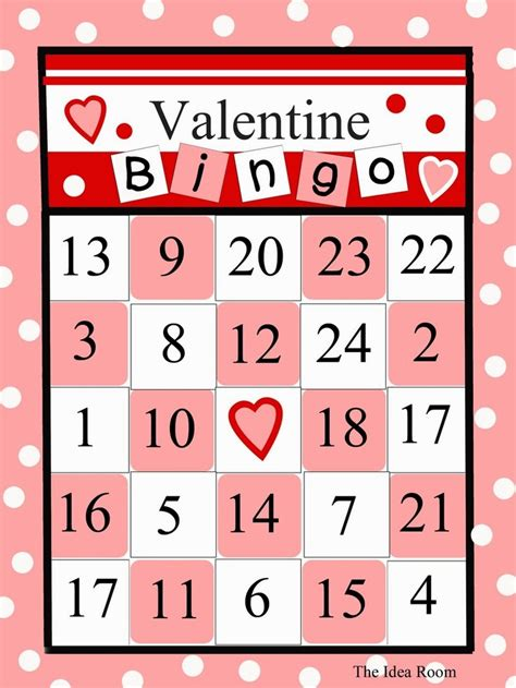 day bingo 7 best images of free printable s day bingo