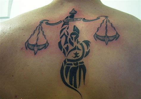tribal libra tattoos for men black and grey tribal libra design