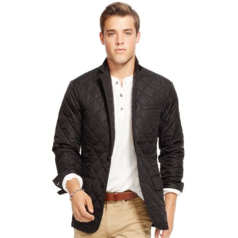 Mens Quilted Sport Coat by Polo Ralph Quilted Sport Coat In Black For Lyst