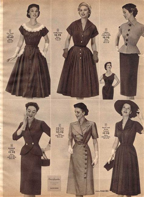 fashion in the 1950s clothing styles trends pictures
