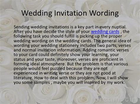 my wedding invitations messages wedding invitation wording