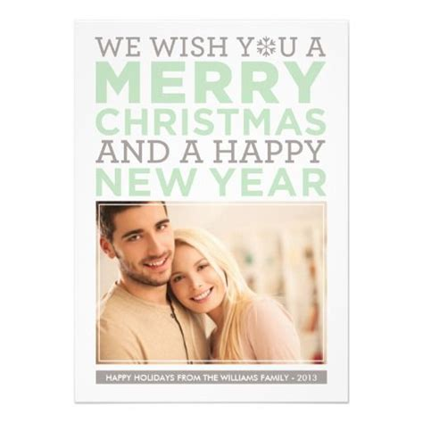 modern merry christmas wishes mint green photo holiday card zazzlecom  images
