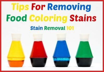 remove food coloring from how to remove food coloring and hair dye stains from