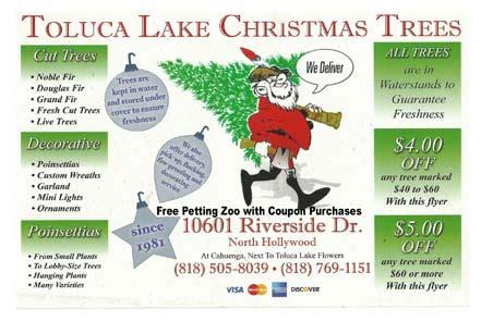 toluca lake christmas trees petting zoo and flowers