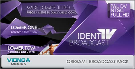 broadcast graphics templates origami broadcast package by vidnoadesign videohive