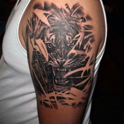 tatuaże męskie tygrys na ramie tattoos pinterest tattoo