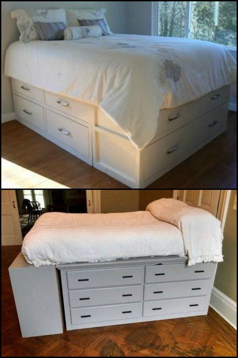 how to make a bed comforter from scratch best 25 dresser bed ideas on pinterest elevated desk
