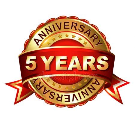 St S 5 Year Mba by 5 Year Anniversary Stock Vectors Royalty Free 5 Year
