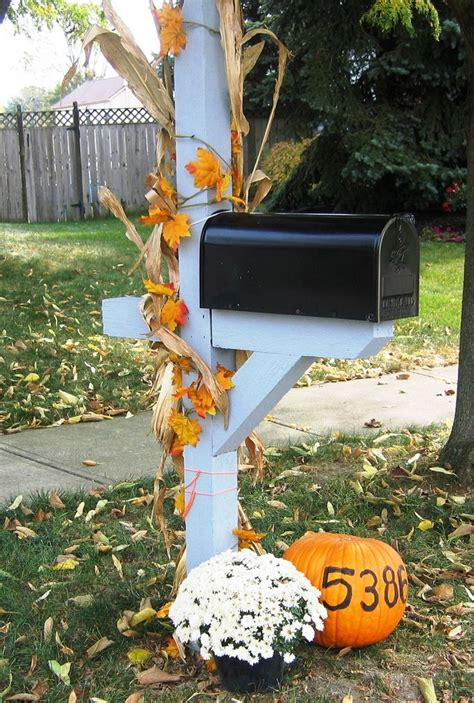 decorating mailbox for decorate your mailbox for fall autumn fall