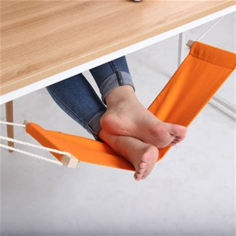 elevate leg at desk the fuut hammock will keep your feet elevated while you