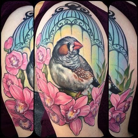 finch tattoo powerline tattoos brennan zebra finch