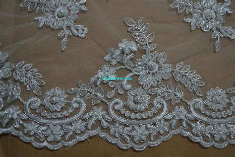 blf002 lace fabric with exquisite beading bridal www
