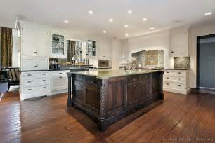 Cream Colored Cabinets With Brown Glaze Pictures Of Kitchens Traditional Two Tone Kitchen