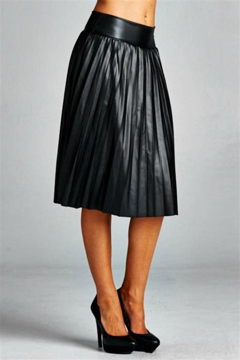 best pleated pleather skirt photos 2017 blue maize