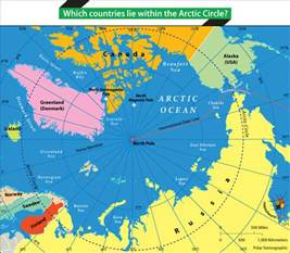 arctic circle map canada which countries lie within the arctic circle answers