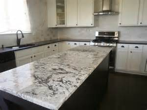Tumbled Slate Backsplash - black pearl honed perimeter and cold spring granite island 3x6 tumbled marble backsplash yelp