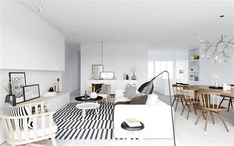 nordic home interiors atdesign nordic style living in monochrome with wooden dining