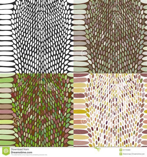 vector set of snake skin pattern elements 01 over snake skin texture set seamless pattern black on white