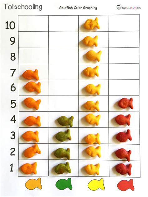 printable goldfish graph goldfish crackers math literacy pack