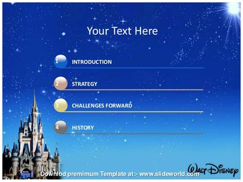 Disney World Powerpoint Template Slideworld Walt Disney Powerpoint Template