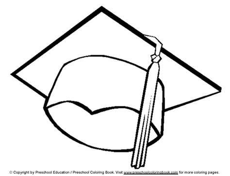 Graduation Cap Drawings Cliparts Co Graduation Cap And Gown Coloring Pages