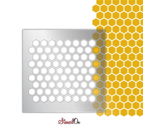 honeycomb pattern roller honeycomb pattern stencil sheet 14 x 14 for walls by stencilon