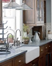 White Pull Down Kitchen Faucet by Kitchen With Natural Wood Cabinets