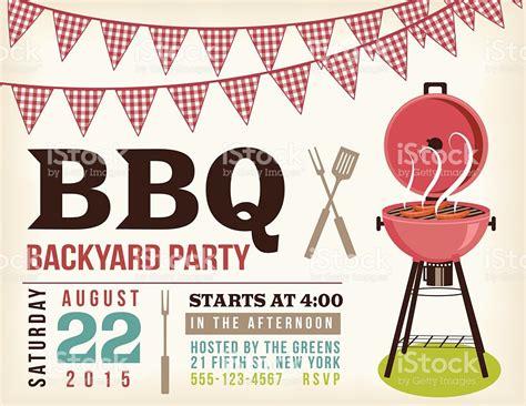 barbecue invitation template free retro bbq invitation template with checkered flags stock