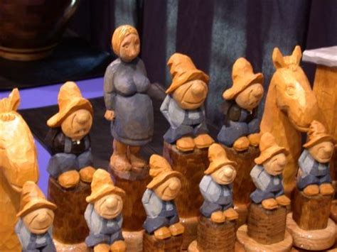 hillbilly chess set  les casteel  lumberjockscom