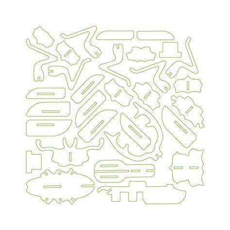 Scarab Design Makerspace Laser Cut 3d Puzzle Template