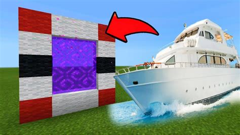 how to make a yacht in minecraft pe minecraft pe how to make a portal to the yacht dimension