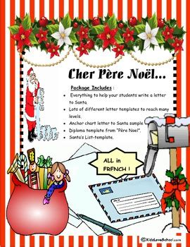 Christmas Cher P 232 Re No 235 L Everything To Write A Letter To Santa In French Santa Iou Template