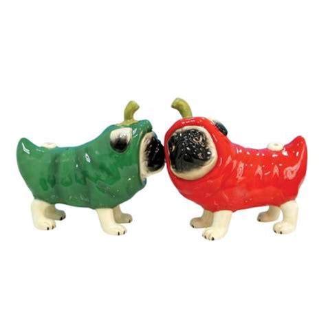 pug salt and pepper pug nacious chili pepper pugs salt and pepper shakers ebay