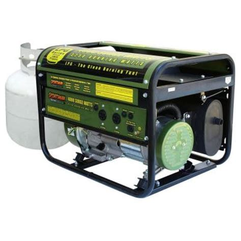 sportsman 4 000 watt clean burning lpg portable propane