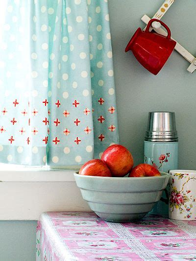 red and aqua curtains kitchen whimsy aqua and red home ideas pinterest