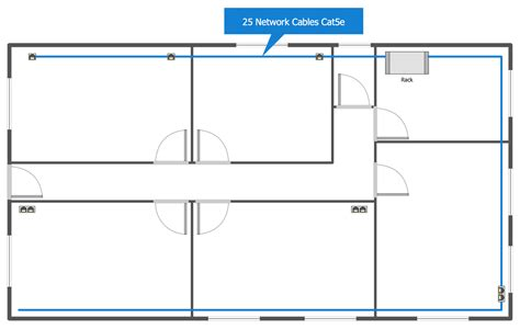 floor plan diagram network layout floor plans solution conceptdraw