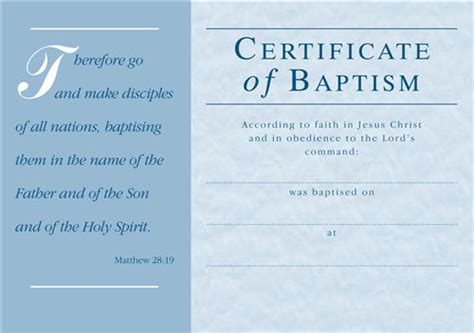 free water baptism certificate template c1179ct baptism certificate envelope general