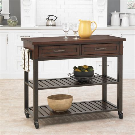 Kitchen Bar Cart by Home Styles Cabin Creek Kitchen Island With Breakfast Bar