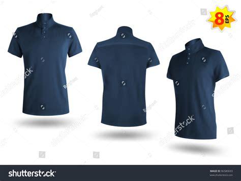 Moc Plain Sleeved Shirt Biru set of blue polo shirts template mesh and