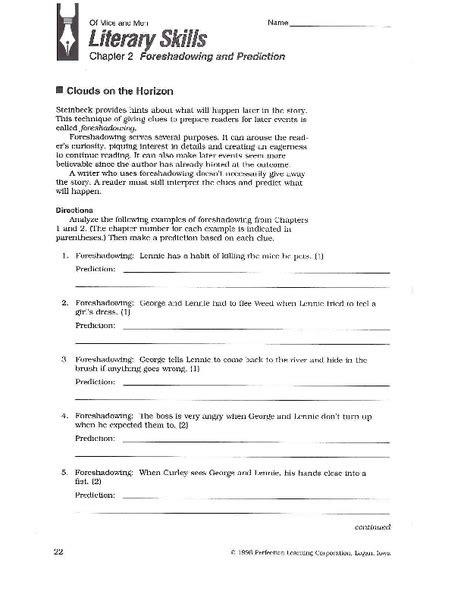 Foreshadowing Worksheets by Foreshadowing Worksheet Worksheets Releaseboard Free